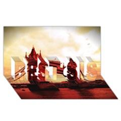 London Tower Bridge Red Best Sis 3d Greeting Card (8x4)