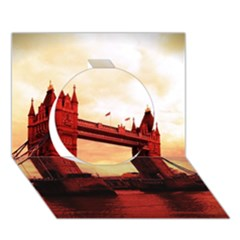 London Tower Bridge Red Circle 3d Greeting Card (7x5)