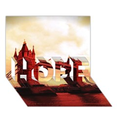 London Tower Bridge Red Hope 3d Greeting Card (7x5)