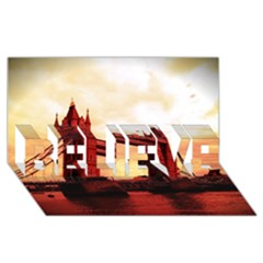London Tower Bridge Red Believe 3d Greeting Card (8x4)