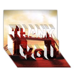 London Tower Bridge Red Thank You 3d Greeting Card (7x5)