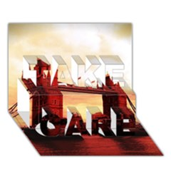 London Tower Bridge Red TAKE CARE 3D Greeting Card (7x5)
