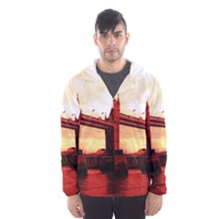 London Tower Bridge Red Hooded Wind Breaker (men)
