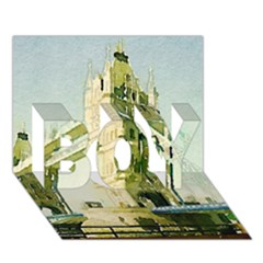 Watercolors, London Tower Bridge BOY 3D Greeting Card (7x5)