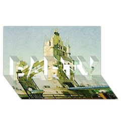 Watercolors, London Tower Bridge Party 3d Greeting Card (8x4)