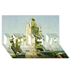 Watercolors, London Tower Bridge Believe 3d Greeting Card (8x4)