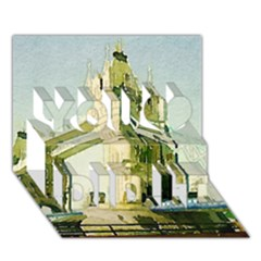 Watercolors, London Tower Bridge You Did It 3D Greeting Card (7x5)