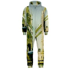 Watercolors, London Tower Bridge Hooded Jumpsuit (Men)