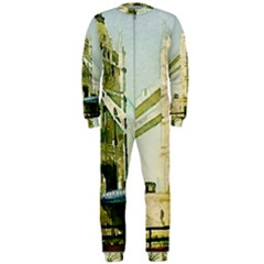 Watercolors, London Tower Bridge OnePiece Jumpsuit (Men)