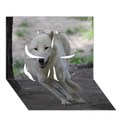 White Wolf Clover 3D Greeting Card (7x5)
