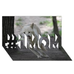 White Wolf #1 MOM 3D Greeting Cards (8x4)