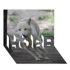 White Wolf HOPE 3D Greeting Card (7x5)