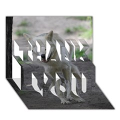 White Wolf Thank You 3d Greeting Card (7x5)