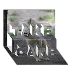 White Wolf TAKE CARE 3D Greeting Card (7x5)
