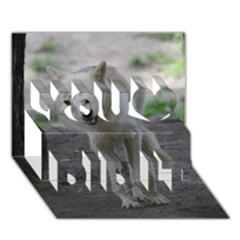 White Wolf You Did It 3d Greeting Card (7x5)