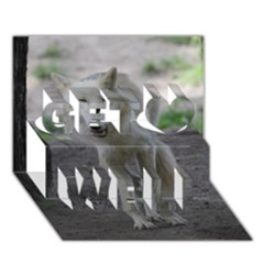 White Wolf Get Well 3d Greeting Card (7x5)