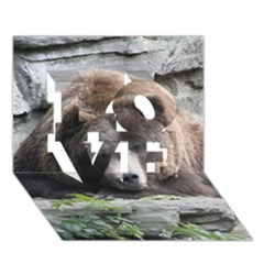 Tired Bear LOVE 3D Greeting Card (7x5)