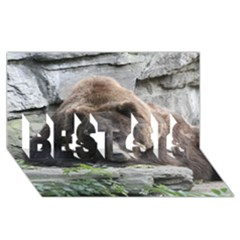 Tired Bear BEST SIS 3D Greeting Card (8x4)
