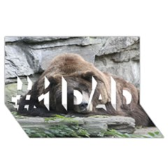 Tired Bear #1 DAD 3D Greeting Card (8x4)
