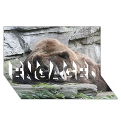 Tired Bear ENGAGED 3D Greeting Card (8x4)
