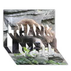 Tired Bear THANK YOU 3D Greeting Card (7x5)