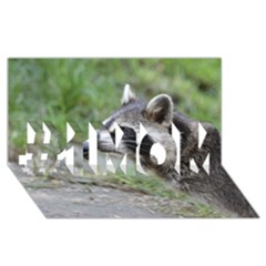 Racoon 1115 #1 MOM 3D Greeting Cards (8x4)