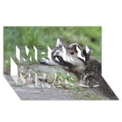 Racoon 1115 Merry Xmas 3D Greeting Card (8x4)