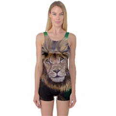 Lion Women s Boyleg One Piece Swimsuits