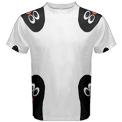 Penguin In Corner Men s Cotton Tees