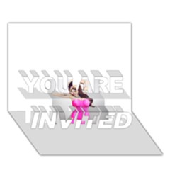 4239411344 56270cf808794 Articlex YOU ARE INVITED 3D Greeting Card (7x5)