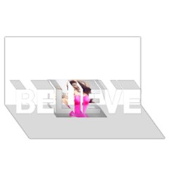 4239411344 56270cf808794 Articlex BELIEVE 3D Greeting Card (8x4)