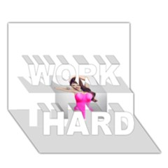 4239411344 56270cf808794 Articlex Work Hard 3d Greeting Card (7x5)