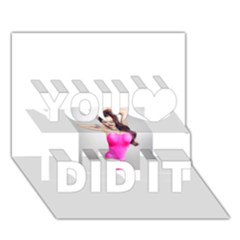 4239411344 56270cf808794 Articlex You Did It 3D Greeting Card (7x5)