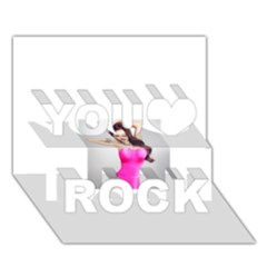 4239411344 56270cf808794 Articlex You Rock 3D Greeting Card (7x5)