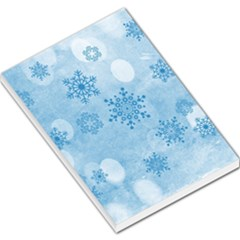 Winter Bokeh Blue Large Memo Pads