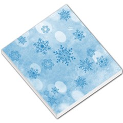 Winter Bokeh Blue Small Memo Pads