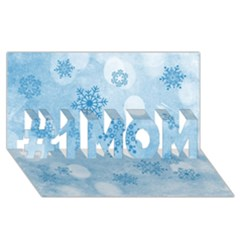 Winter Bokeh Blue #1 Mom 3d Greeting Cards (8x4)