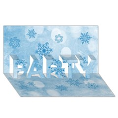 Winter Bokeh Blue PARTY 3D Greeting Card (8x4)