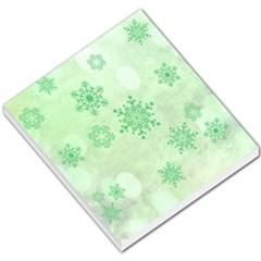 Winter Bokeh Green Small Memo Pads