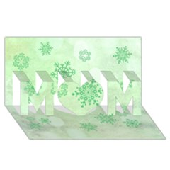 Winter Bokeh Green Mom 3d Greeting Card (8x4)