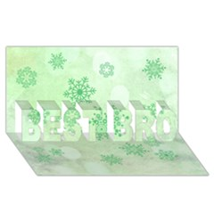 Winter Bokeh Green BEST BRO 3D Greeting Card (8x4)
