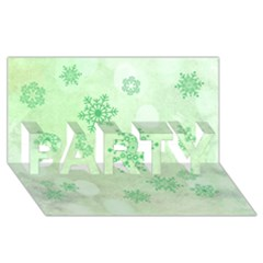 Winter Bokeh Green Party 3d Greeting Card (8x4)
