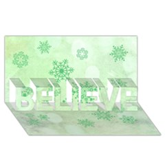 Winter Bokeh Green Believe 3d Greeting Card (8x4)