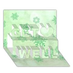 Winter Bokeh Green Get Well 3d Greeting Card (7x5)