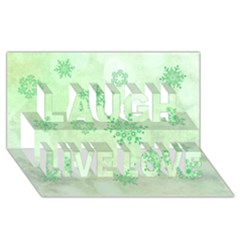 Winter Bokeh Green Laugh Live Love 3d Greeting Card (8x4)