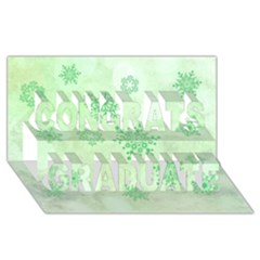 Winter Bokeh Green Congrats Graduate 3D Greeting Card (8x4)