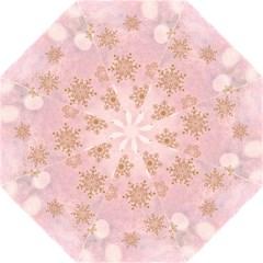 Winter Bokeh Pink Folding Umbrellas