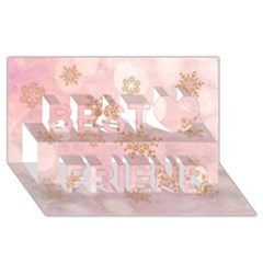 Winter Bokeh Pink Best Friends 3D Greeting Card (8x4)