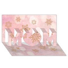 Winter Bokeh Pink MOM 3D Greeting Card (8x4)