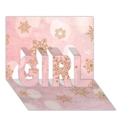 Winter Bokeh Pink GIRL 3D Greeting Card (7x5)
